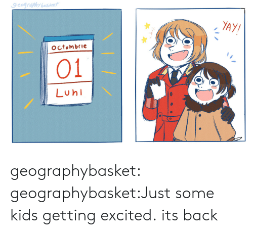 Target, Tumblr, and Blog: YAY/  octombeie  01  Luh geographybasket:  geographybasket:Just some kids getting excited. its back