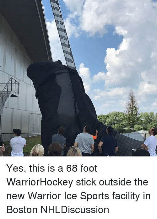 sticked: Yes, this is a 68 foot WarriorHockey stick outside the new Warrior Ice Sports facility in Boston NHLDiscussion
