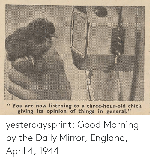 daily mirror: yesterdaysprint: Good Morning by the Daily Mirror, England, April 4, 1944