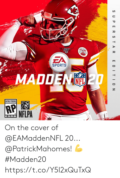 Memes, Sports, and Yo: Yo  ZA  SPORTS  MADDEN  (O 2  RATING PENDING  ESRB On the cover of @EAMaddenNFL 20... @PatrickMahomes! 💪  #Madden20 https://t.co/Y5I2xQuTxQ
