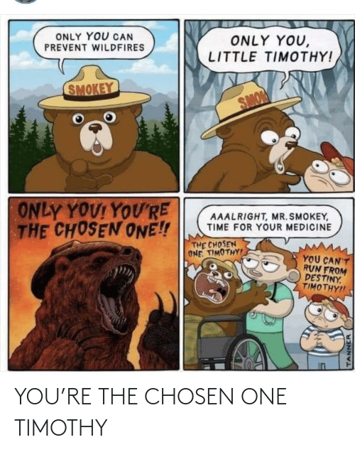 the chosen one: YOU'RE THE CHOSEN ONE TIMOTHY