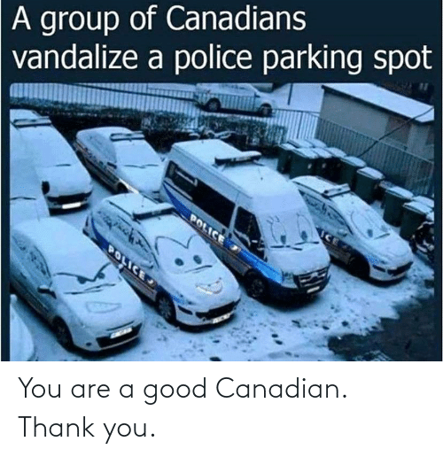 Good: You are a good Canadian. Thank you.