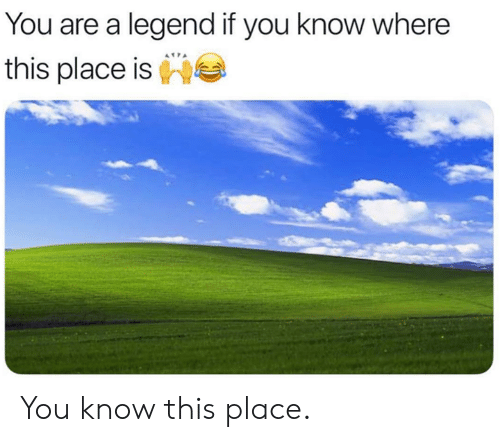 you-know-this: You are a legend if you know where  this place is You know this place.