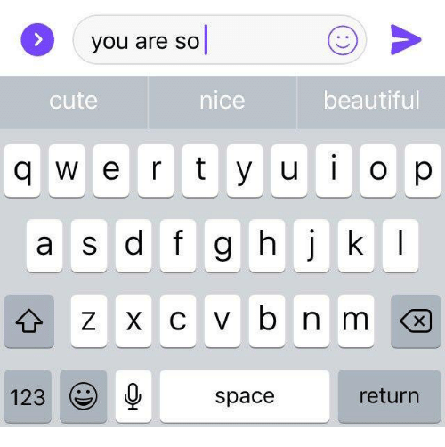 You Are So Cute: you are so|  cute  nice  beautiful  a s d f g hjk  123spacereturn
