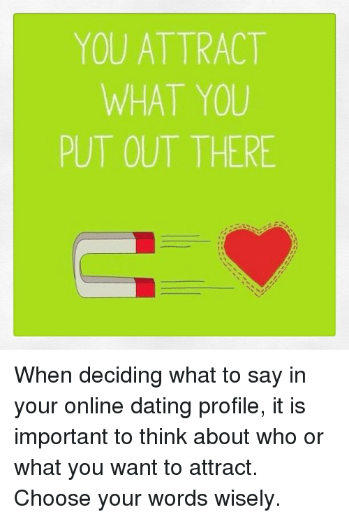 What to say when online dating