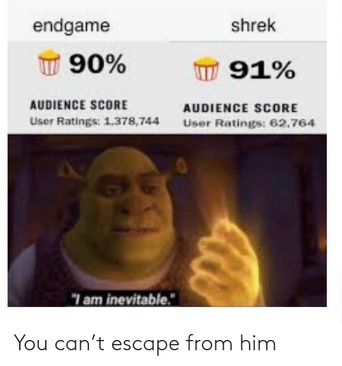 From: You can't escape from him