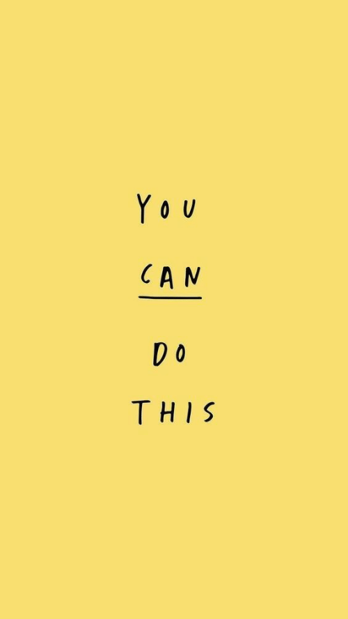 Can, You, and This: YoU  CAN  DO  THIS