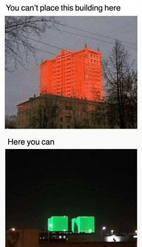 Can, You, and This: You can't place this building here  Here you can
