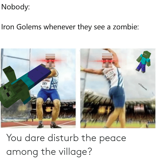 Peace: You dare disturb the peace among the village?