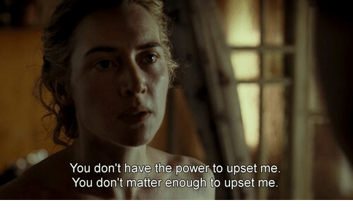 dont matter: You don't have the power to upset mee  You don't matter enough to upset me