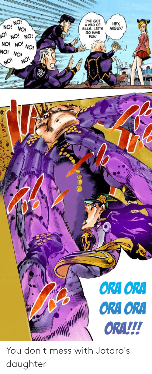 mess: You don't mess with Jotaro's daughter
