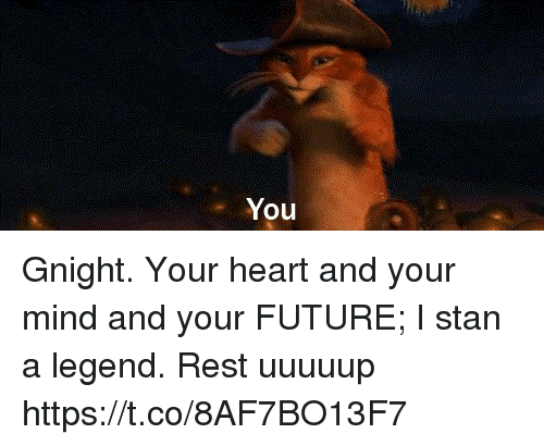 Future, Memes, and Stan: You Gnight. Your heart and your mind and your FUTURE; I stan a legend. Rest uuuuup https://t.co/8AF7BO13F7