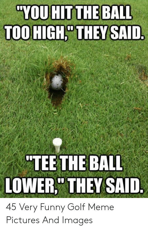 """Golf Meme: """"YOU HIT THE BALL  TOO HIGH,"""" THEY SAID  """"TEE THE BALL  LOWER, THEY SAID 45 Very Funny Golf Meme Pictures And Images"""