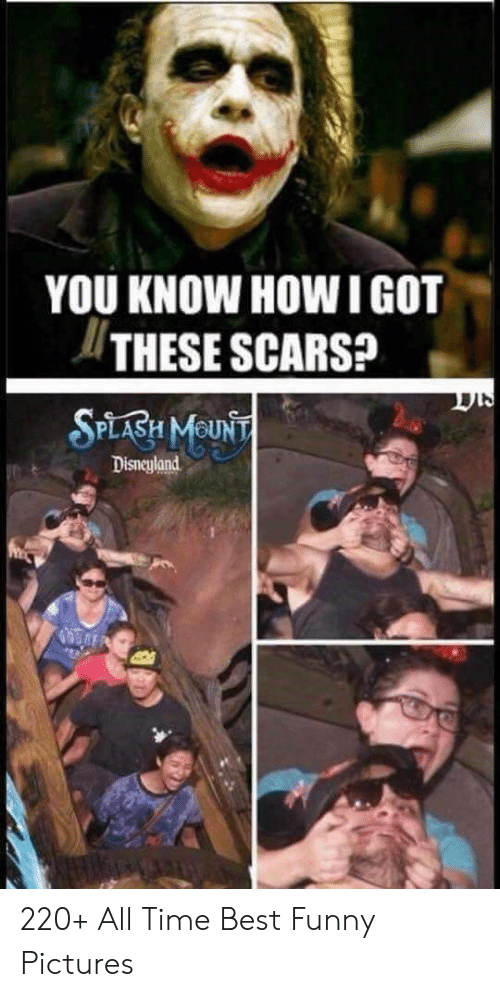 disneyland: YOU KNOW HOW IGOT  THESE SCARS?  SPLABH MOUNT  Disneyland 220+ All Time Best Funny Pictures