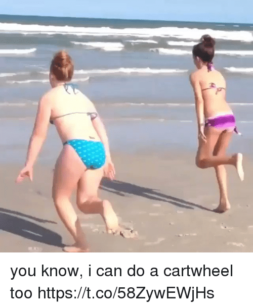 Girl Memes, Can, and You: you know, i can do a cartwheel too https://t.co/58ZywEWjHs