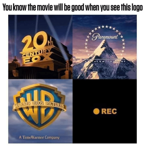 Good, Movie, and Logo: You know the movie will be good when you see this logo  ● REC  A TimeWarner Company