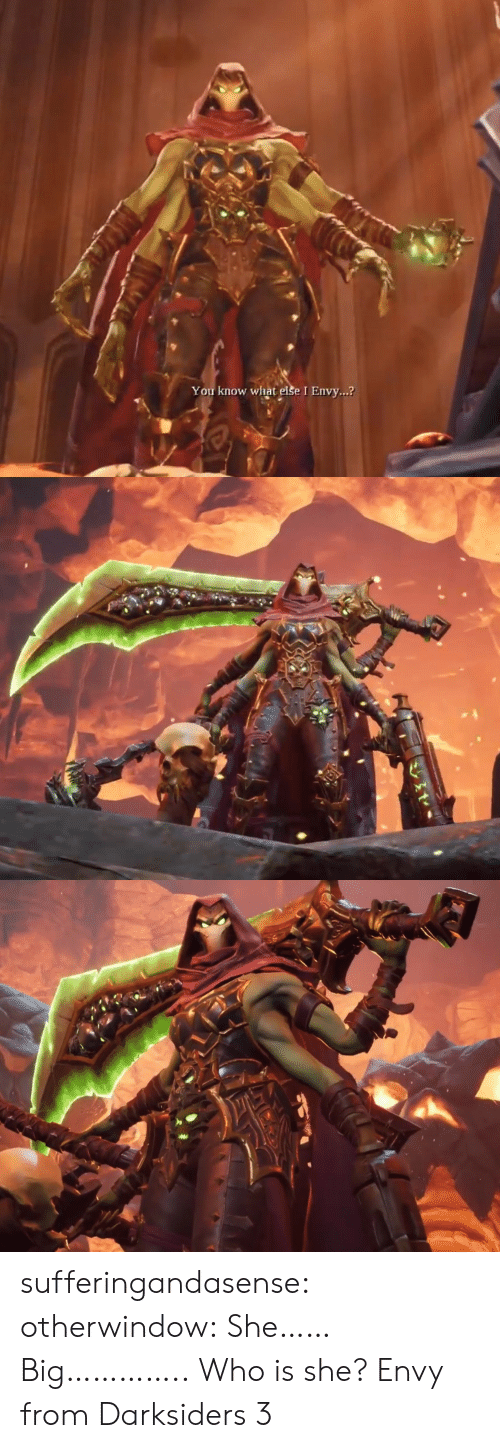 Tumblr, Blog, and Darksiders: You know what else I Envy...? sufferingandasense:  otherwindow:  She…… Big…………..  Who is she?  Envy from Darksiders 3
