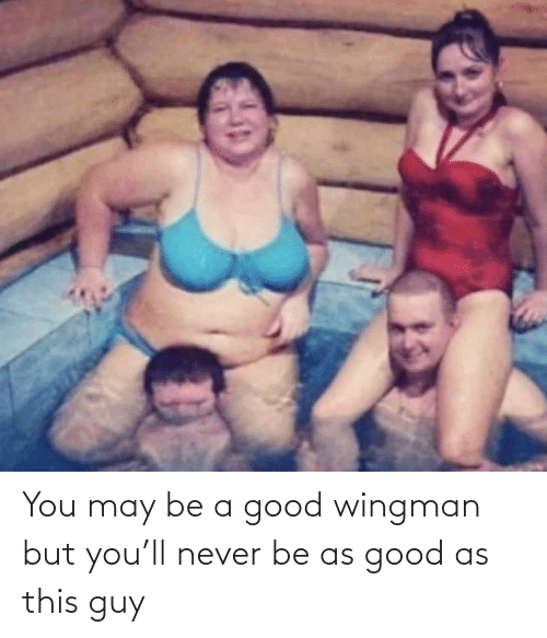 this guy: You may be a good wingman but you'll never be as good as this guy