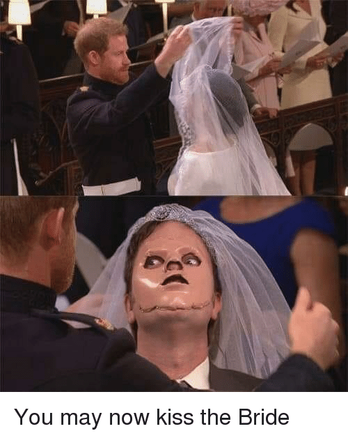 now kiss: You may now kiss the Bride