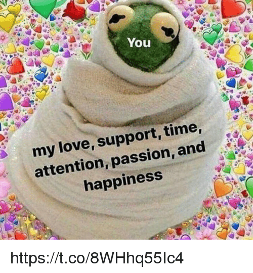 Love, Memes, and Time: You  my love, support, time  attention, passion, and  happiness https://t.co/8WHhq55Ic4