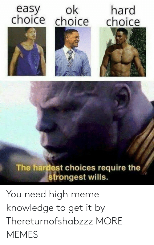 Knowledge: You need high meme knowledge to get it by Thereturnofshabzzz MORE MEMES