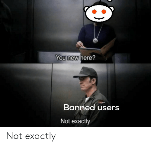 New, You, and Exactly: You new here?  Banned users  Not exactly Not exactly