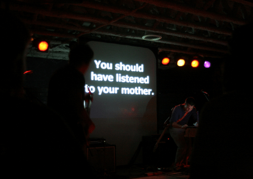 Mother, You, and Your Mother: You should  have listened  to your mother.