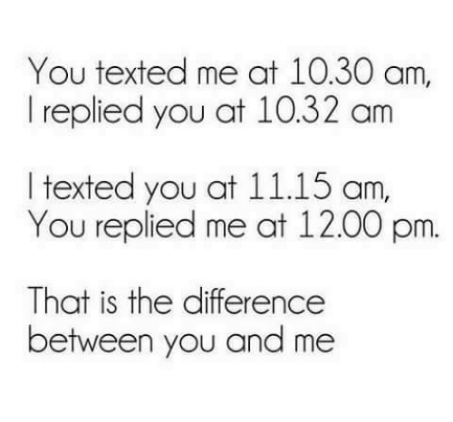 the difference between you and i