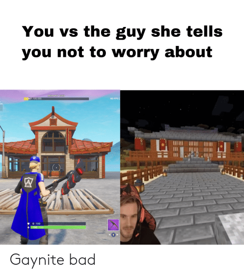 Bad, Memory, and She: You vs the guy she tells  you not to worry about  MEMORY USED  6,867 100,000  60 FPS  Loss  O 100  100 100  Y Gaynite bad