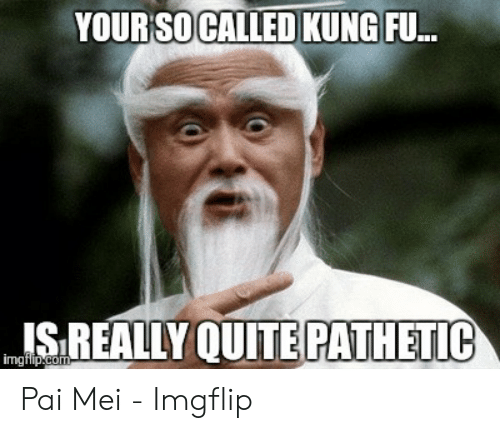 pai mei: YOUR SO CALLED KUNG FU.  IS REALLY QUITE PATHETIC Pai Mei - Imgflip