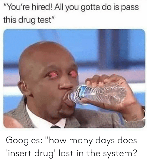 Interviewer Some Good News and Some Bad News Your Drug Test Came
