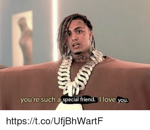 Love, Memes, and I Love You: you're such a special friend. I love you. https://t.co/UfjBhWartF