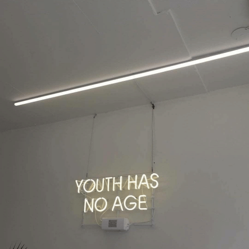 Youth,  No, and Age: YOUTH HAS  NO AGE