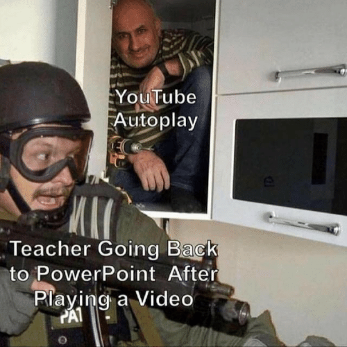 Autoplay: YouTube  Autoplay  Teacher Going Back  to PowerPoint After  Playing a Video  PAT