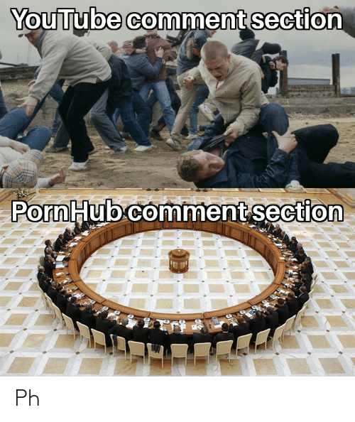 Comment Section: YouTube comment section  Porn Hub comment section Ph