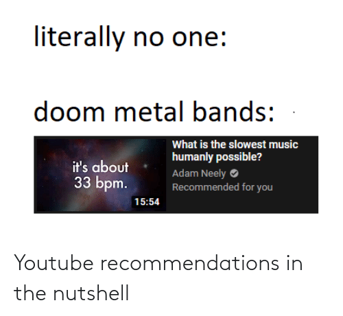 recommendations: Youtube recommendations in the nutshell