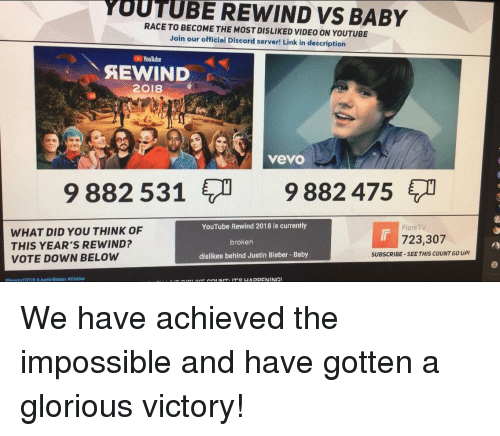 YUUTUBE REWIND VS BABY RACE TO BECOME THE MOST DISLIKED