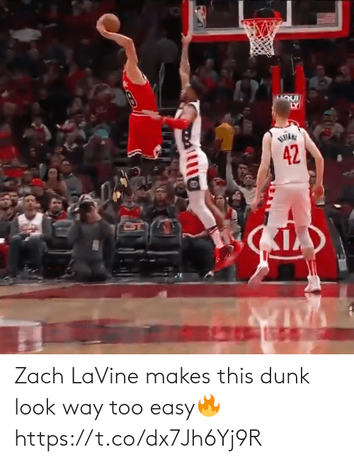 look: Zach LaVine makes this dunk look way too easy🔥 https://t.co/dx7Jh6Yj9R