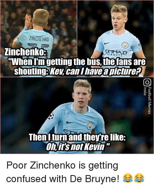 """De Bruyne: ZINCHENKO  