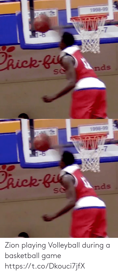 Basketball: Zion playing Volleyball during a basketball game https://t.co/Dkouci7jfX