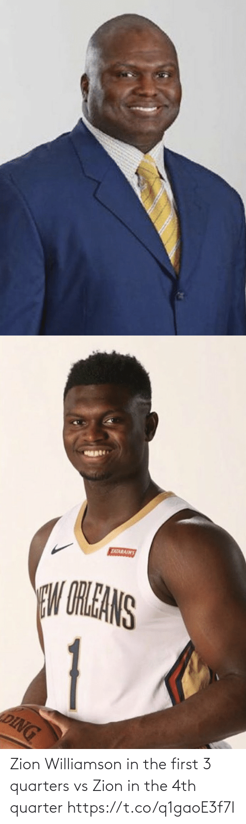 The First: Zion Williamson in the first 3 quarters vs Zion in the 4th quarter https://t.co/q1gaoE3f7I