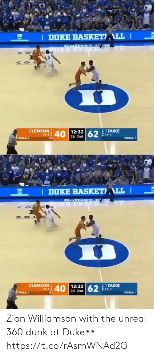 With: Zion Williamson with the unreal 360 dunk at Duke👀 https://t.co/rAsmWNAd2G